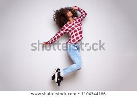 танцы женщину белый танцовщицы исполнении элегантность Сток-фото © wavebreak_media