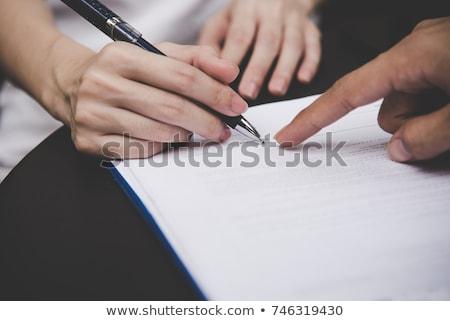 trabajo · aplicación · primer · plano · documento · papel - foto stock © quka