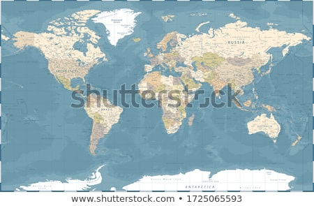 Stock photo: world map in relief