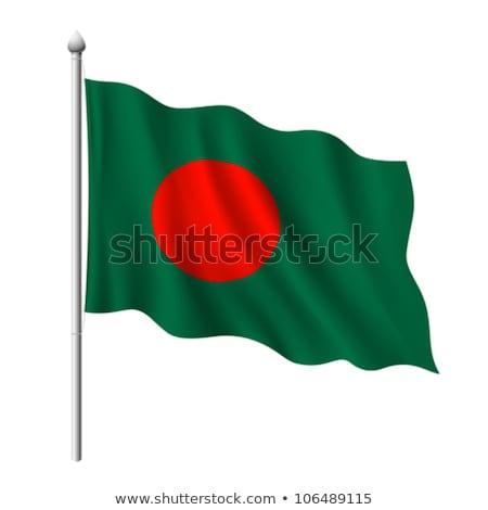 Fabric Texture Of The Flag Of Bangladesh Stok fotoğraf © Sarunyu_foto