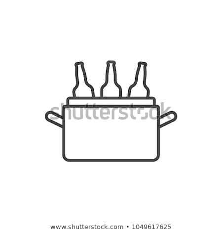 Vector icon cooler and bottle Stock photo © zzve