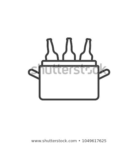 ベクトル · アイコン · ボトル · 子 · アルコール · 休日 - ストックフォト © zzve