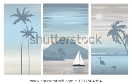 sailboat set stock photo © cteconsulting