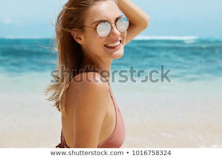 portrait · sensuelle · femme · détente · été · plage - photo stock © pawelsierakowski