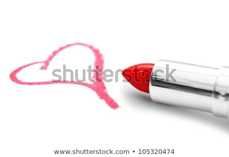 Rosa rossetto cuore bianco carta Foto d'archivio © pixelsnap