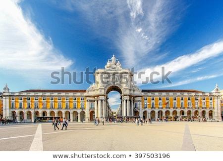 gazdaság · tér · Lisszabon · Portugália · kék · utazás - stock fotó © vwalakte