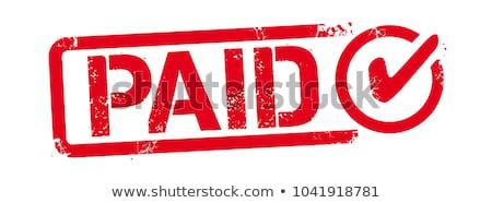 Nyugta bélyeg pecsét fehér üzlet iroda Stock fotó © chrisdorney