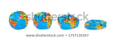 ストックフォト: 地球 · 孤立した · 白 · 地図 · 地球 · ボール