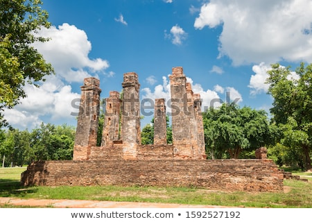 Statue of deity in the Historical Park of Sukhothai Stock photo © bbbar