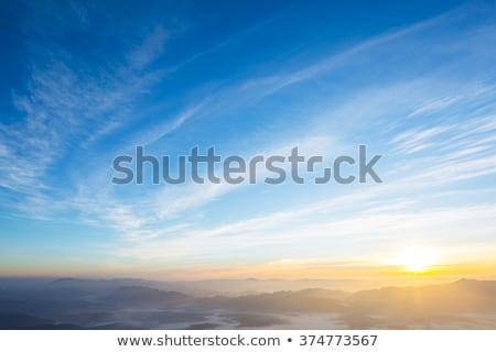 Dramatik beyaz bulutlar güneş Paskalya gün batımı Stok fotoğraf © tolokonov