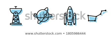 Uydu bulaşık astroloji imzalamak gökyüzü teknoloji Stok fotoğraf © zzve