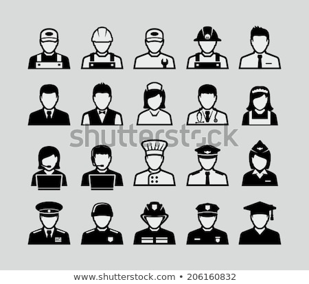 Occupations icons Stock photo © carbouval