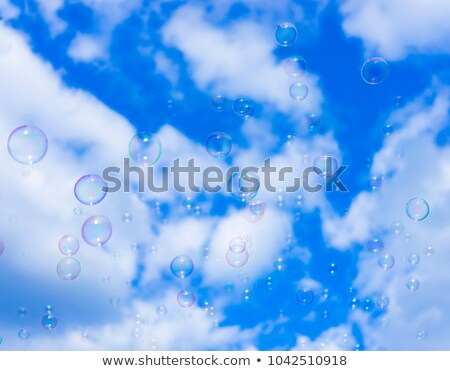 powietrza · Bańka · niebieski · zielonym · tle · przezroczysty · powierzchnia - zdjęcia stock © stoonn