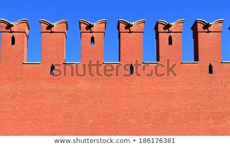Moscú Kremlin pared fragmento rojo pared de ladrillo Foto stock © simply