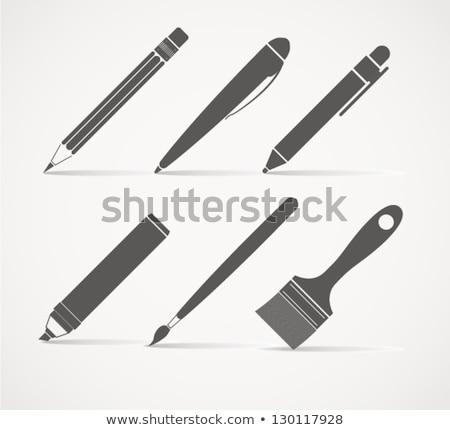 書く ツール コレクション 塗料 鉛筆 緑 ストックフォト © Alegria111