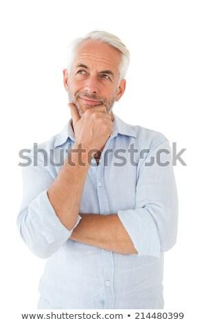 зрелый человек мышления портрет случайный человека Сток-фото © stokkete