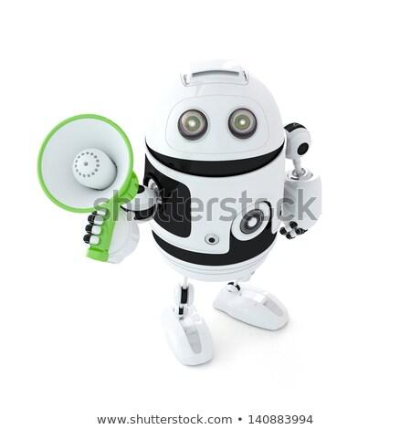 Androide megáfono aislado blanco hombre Foto stock © Kirill_M
