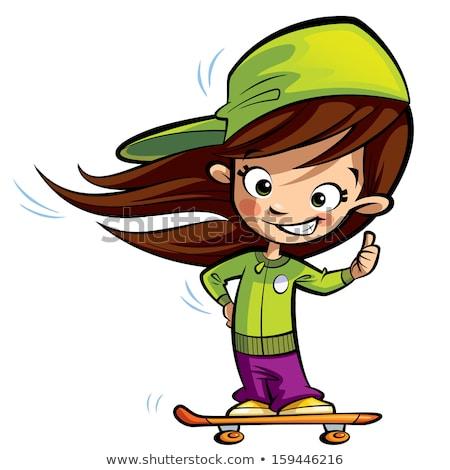 幸せ かわいい 少女 スケート ストックフォト © Thodoris_Tibilis