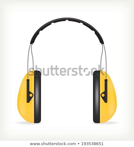 proteção · amarelo · ouvido · construção · fones · de · ouvido · indústria - foto stock © pxhidalgo