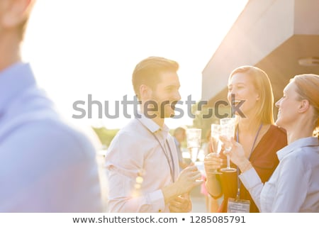 Photo stock: Amusement · datant · portrait · conversation