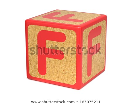 Letter F on Childrens Alphabet Block. Stock photo © tashatuvango