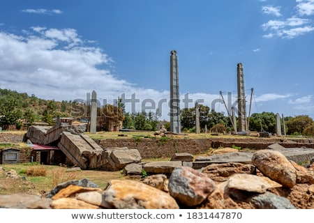 Obelisk in the Aksum Kingdom, Ethiopia  Stock photo © meinzahn
