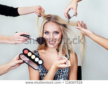 blond · vrouw · kralen · portret · jonge · mooie - stockfoto © dashapetrenko