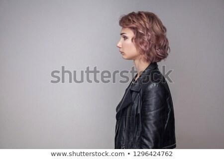 profil · portre · çekici · bayan · zarif - stok fotoğraf © oleanderstudio