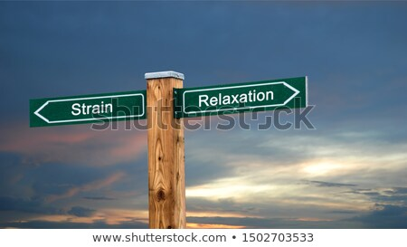 wellness stress road sign stock photo © burakowski