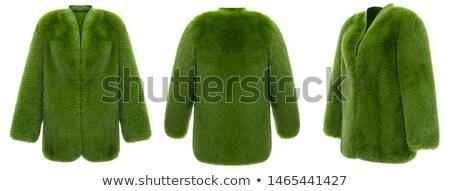 short green fur texture Stock photo © sfinks