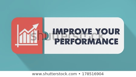 Improve Your Performance Concept in Flat Design. Stock photo © tashatuvango