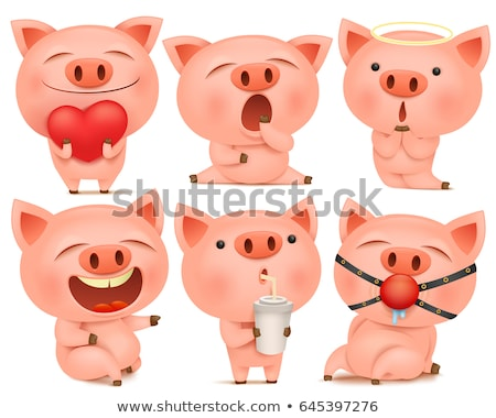 Pig Collection Stock photo © derocz