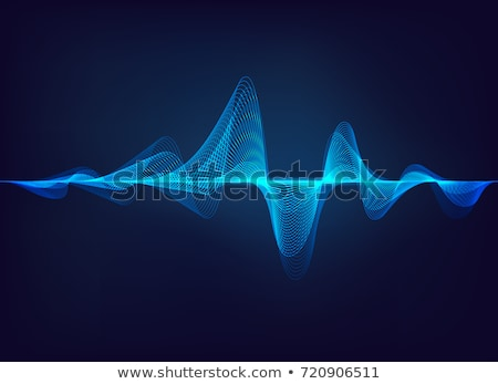 blue wave of sound stock photo © carloscastilla