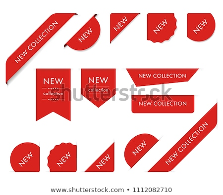 新しい タグ ビジネス デザイン 赤 ストア ストックフォト © irska