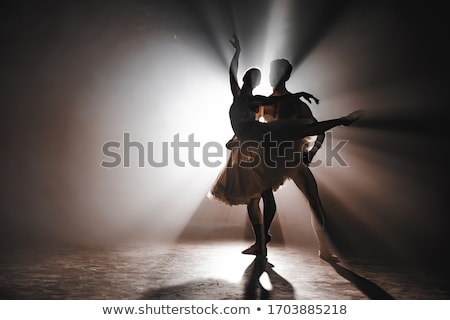 Ballet dancer-action Stock photo © Geribody