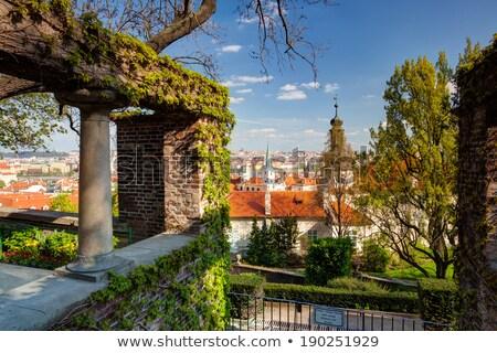 Kilátás kert édenkert tavasz Prága hdr Stock fotó © CaptureLight