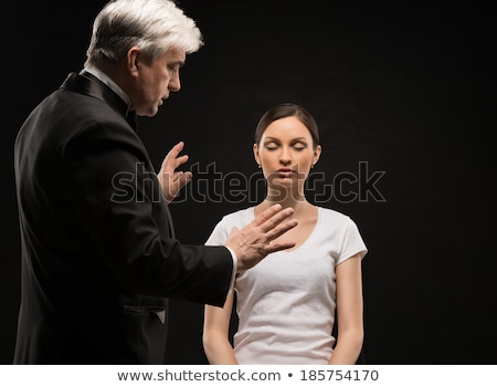 Alternative medicine therapist using hypnosis to heal his patien Stock photo © HASLOO