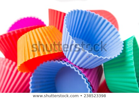 Blue silicone baking cups. Isolated on white background Stock photo © g215