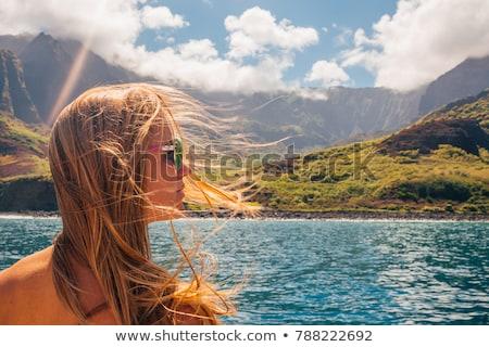 statek · wycieczkowy · horyzoncie · wygaśnięcia · mętny · burzliwy · wieczór - zdjęcia stock © backyardproductions