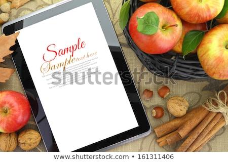 ноутбук · свежие · травы · книга · древесины - Сток-фото © marimorena