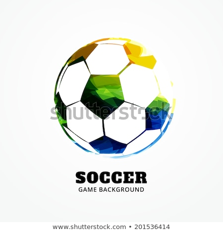 Beautiful Soccer ball with brazil colors splash grunge backgroun Stock photo © bharat