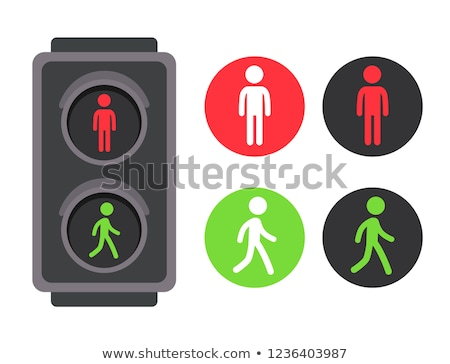 Pedestrian traffic lights at an intersection Stock photo © juniart