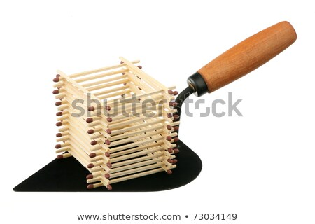 house of matches isolated on a white background Stock photo © bmonteny