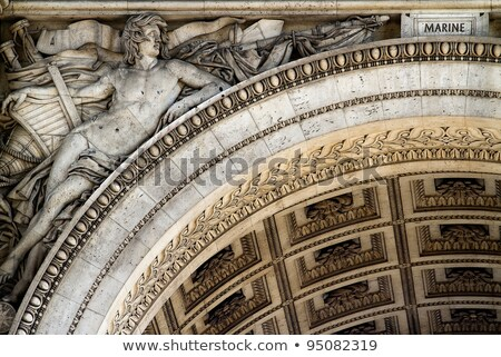 Detail of the Arc de Triomphe, Paris, Ile de france, France Stock photo © Dserra1