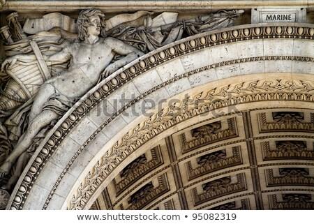 Триумфальная · арка · подробность · арки · Париж · Франция · текстуры - Сток-фото © dserra1