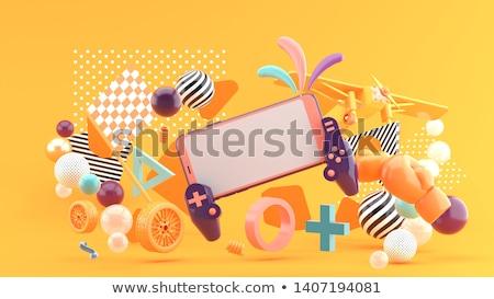 Portátil palanca de mando electrónico casa trabajo Foto stock © racoolstudio