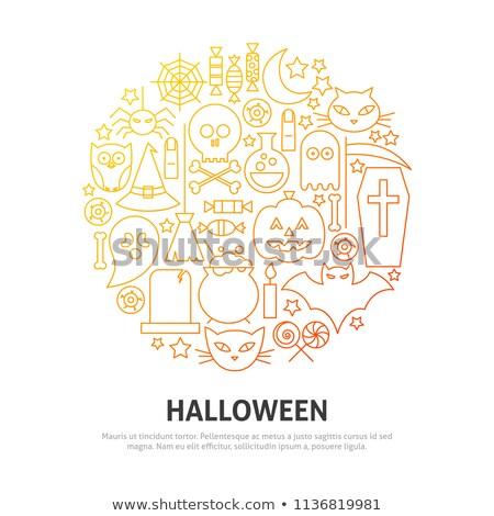 halloween icons in circle stock photo © glorcza