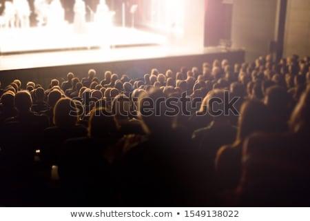 Audiencia viendo cine sentado vacío etapa Foto stock © d13