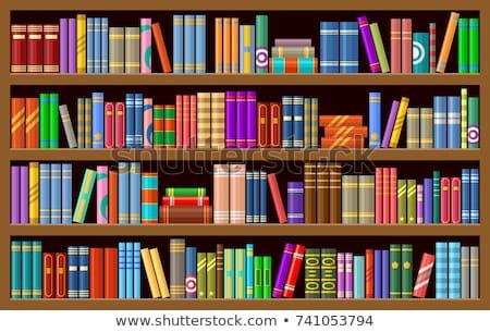 vetor · livros · prateleira · de · livros · gráfico · escritório · abstrato - foto stock © leonido