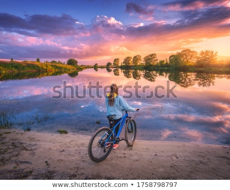 bike reflect on sand Stock photo © xuanhuongho
